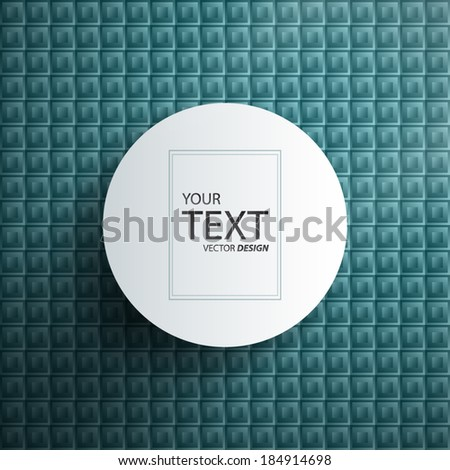 Simple Abstract Vector Text Box - stock vector
