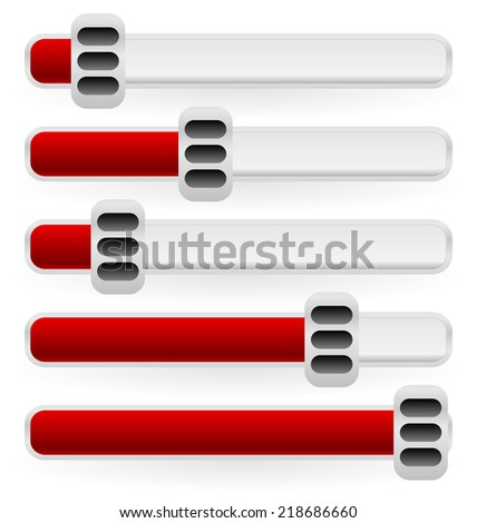 Simple adjusters - stock vector