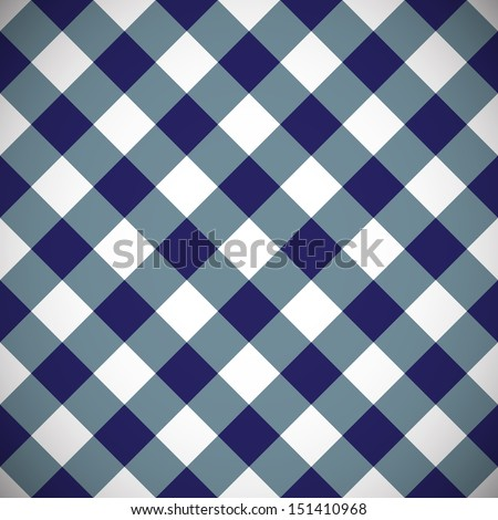 Simple and beautiful gingham plaid seamless pattern - stock vector