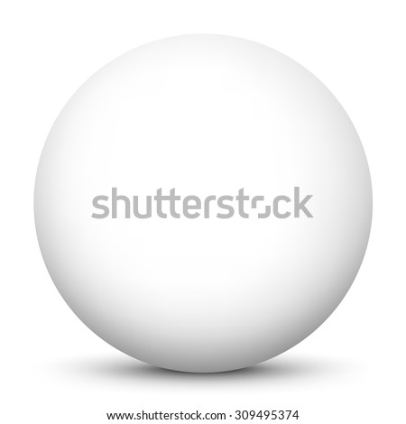 Simple and Clean Beautiful Vector Sphere with White Surface on White Background and Smooth Shadow - Ball, Globe, Button, Bubble, Pearl - stock vector