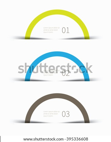simple and clean rounded graphic for business background / half circle infographics - stock vector