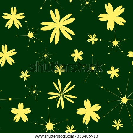 Simple and cute seamless floral pattern of two colors. Suitable for printing on textiles, stationery, ceramics, kitchen utensils