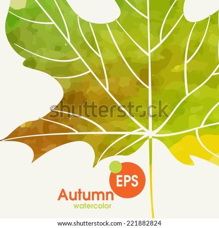Simple Autumn Background.  Vector Illustration. Eps 10 - stock vector