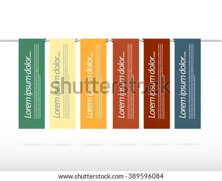 Simple bannes presentation - stock vector