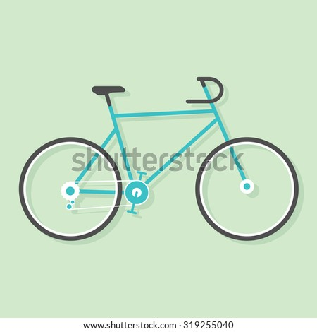 Simple bicycle - stock vector