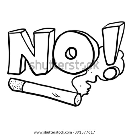 Cartoon no smoking sign stock images royalty free images for No smoking coloring pages