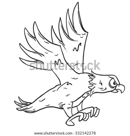 how to draw a cartoon eagle easy
