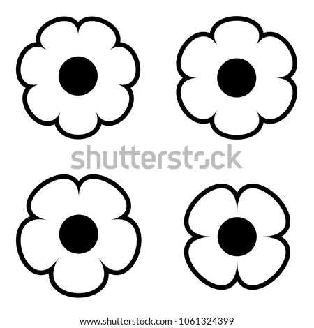 Simple black white flower icon symbol stock vector 1061324399 simple black and white flower icon symbol logo set a simple minimalist elements set mightylinksfo Choice Image
