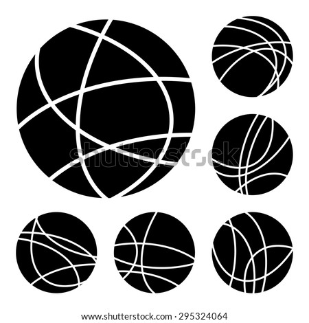 Simple black and white globe internet connection - stock vector
