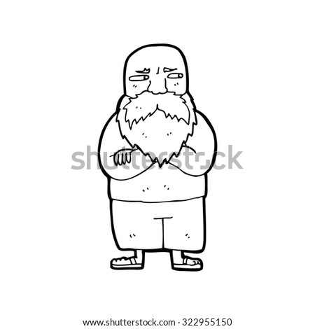 how to draw an old man cartoon