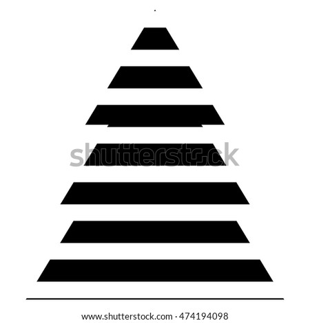 Simple Black Christmas Tree Icon With Abstract Pattern Isolated On White Background