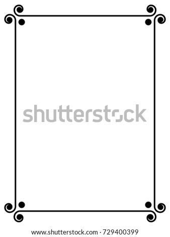 simple black frame png. Simple Black Ornamental Decorative Frame Png