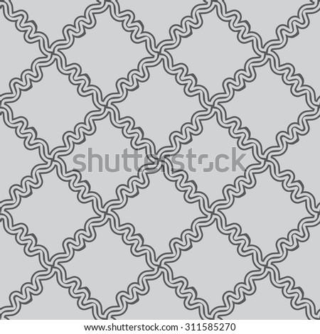 Simple black seamless wallpaper pattern vector illustration - stock vector