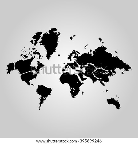 Simple black world map stock photo photo vector illustration simple black world map gumiabroncs Image collections