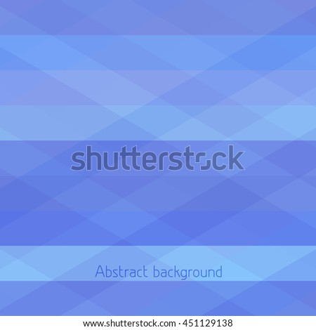 Simple blue background. Abstract geometric background with blue horizontal and diagonal stripes. Vector graphic pattern - stock vector