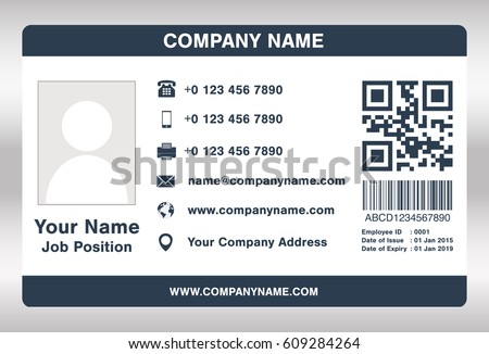 Employee card stock images royalty free images vectors for Staff id badge template