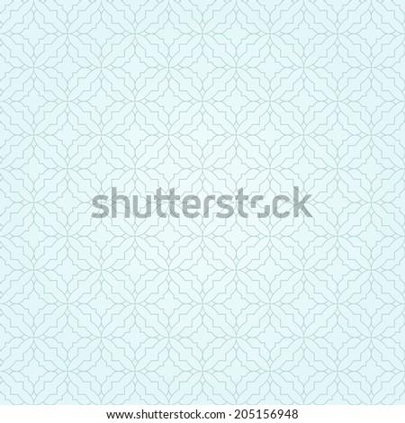 Simple blue pattern. Geometric pattern, seamless.  - stock vector