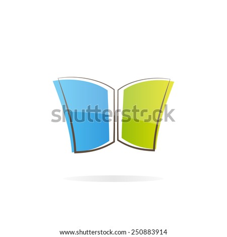 Simple book  logo - stock vector