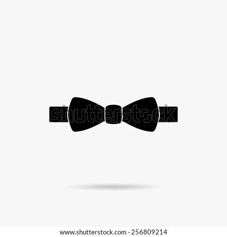 Simple Bow Tie icon. - stock vector
