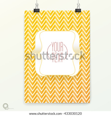 Simple Brackets Symbol Vector Design on an A4 / A3 Mock Up Page for Your Newsletter - stock vector