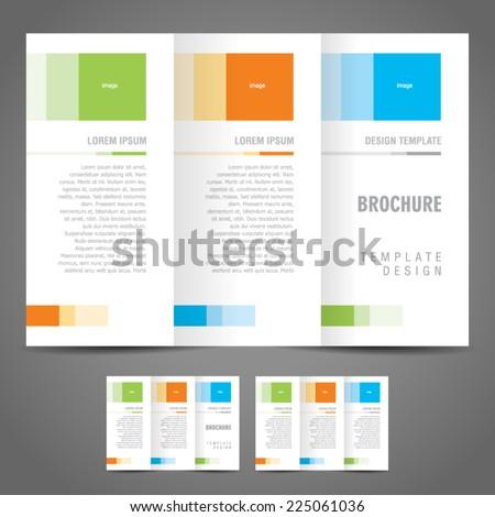 simple brochure design template trifold