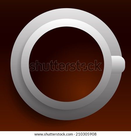 Simple cafe image - stock vector