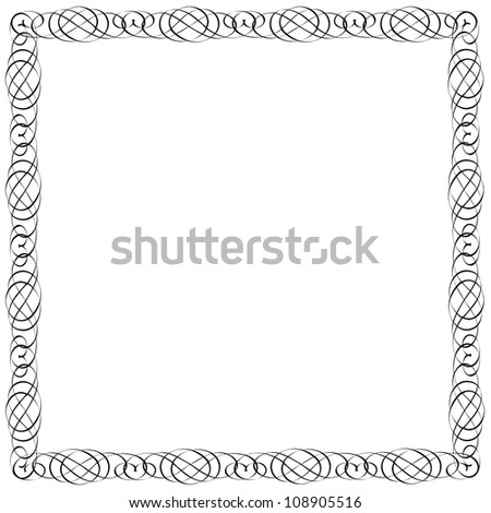 Simple Calligraphic Frame For Design Vector Eps10