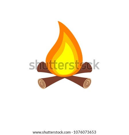 Camping Clipart Isolated On White Background