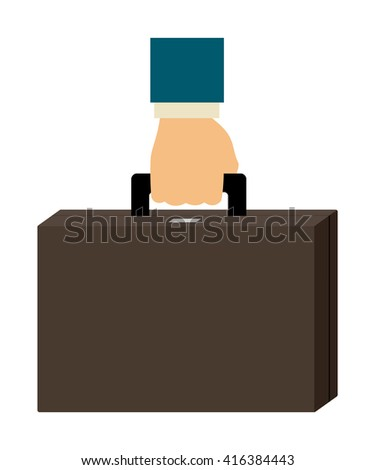 Simple cartoon of hand holding a briefcase