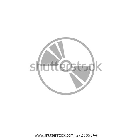 Simple CD or DVD icon. - stock vector