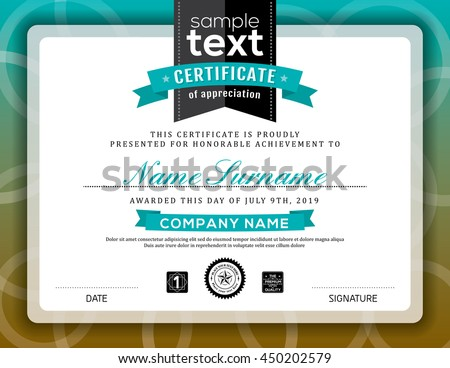 Simple Certificate Appreciation Border Background Frame