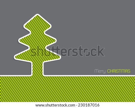 Simple christmas greeting card design striped stock vector 230187016 simple christmas greeting card design with striped christmas tree m4hsunfo