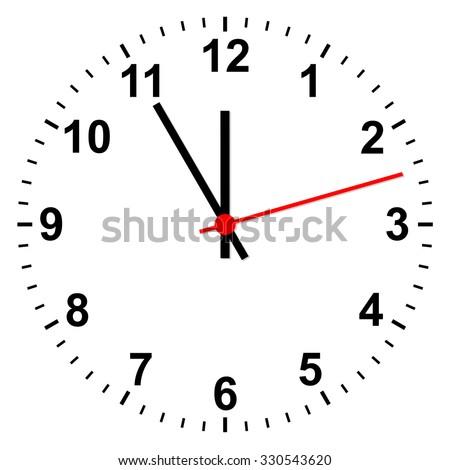 simple clock - stock vector
