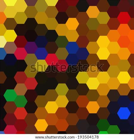 Abstract Vector Backdrop Design Colorful Hexagonal Stock Vector ...