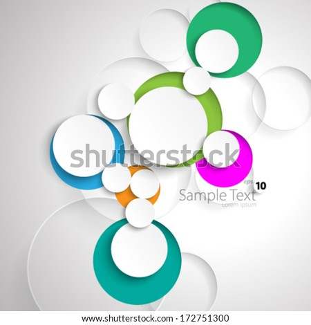 Simple Colorful Circles Design Background - stock vector
