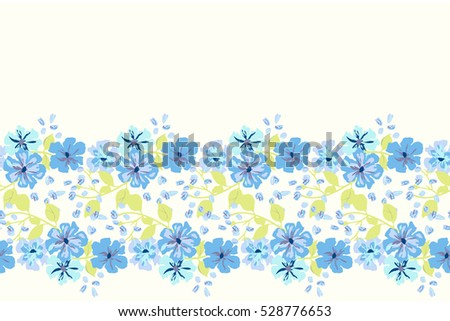 simple cute border smallscale flowers nemophila stock vector 528776653 shutterstock. Black Bedroom Furniture Sets. Home Design Ideas