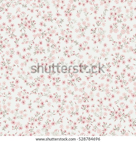 small flowers pattern, maiden pink