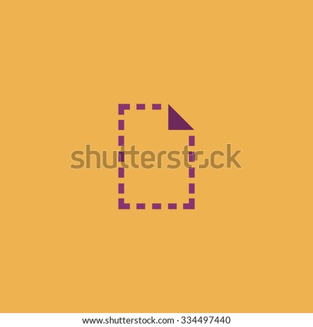 Simple Document. Colorful vector icon. Simple retro color modern illustration pictogram. Collection concept symbol for infographic project and logo - stock vector