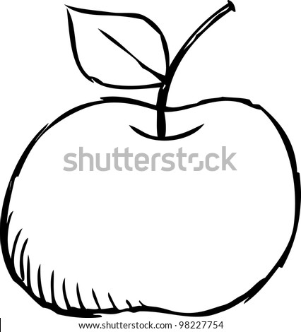 simple doodle of apple