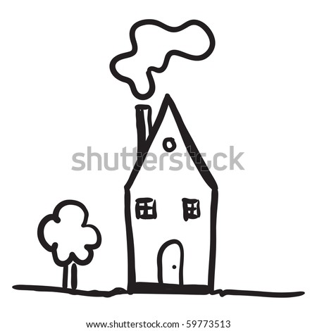 Simple drawing of a house