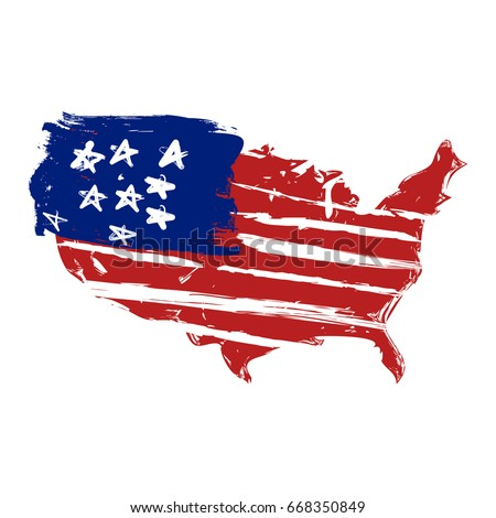 Easy To Draw American Flag