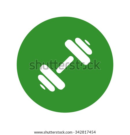 Simple Dumbbell. - stock vector