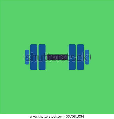 Simple Dumbbell. Icon Vector. Icon Picture. Icon Graphic. Icon Art. Icon JPG. Icon JPEG. Icon EPS. Icon AI. Icon FLAT. Icon SIMPLE - stock vector