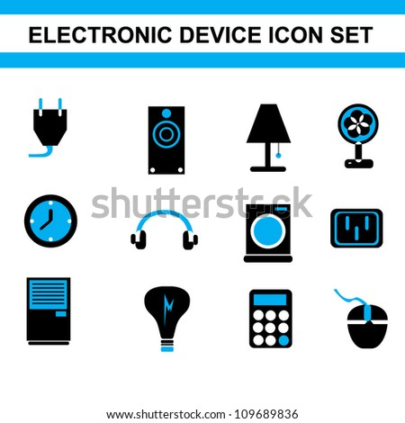 Simple Electronic Device Icon Set Stock Vector 109689836 - Shutterstock