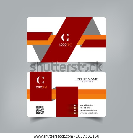 Simple elegant business card vector templates stock vector simple elegant business card vector templates with fold width styles clean identity card templates colourmoves