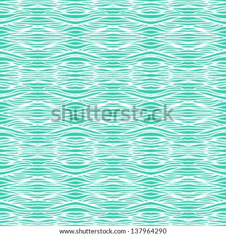 Simple, elegant linear seamless vector pattern in tropical aqua blue in art deco stile. Texture for web, print, fashion fabric or textile, website or wedding invitation background