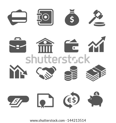 Simple financial icons. - stock vector
