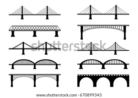 Simple Flat Bridge Symbols
