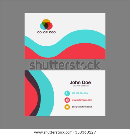 Simple flat business card design stock vector royalty free simple flat business card design reheart Choice Image