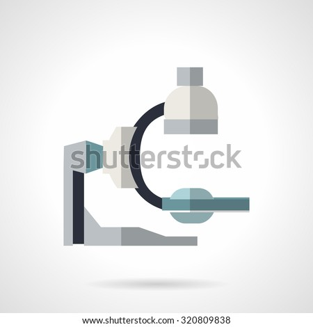 Simple flat color style vector icon for medical diagnostic equipment. X-ray machine, medical device. Web design element for business. - stock vector